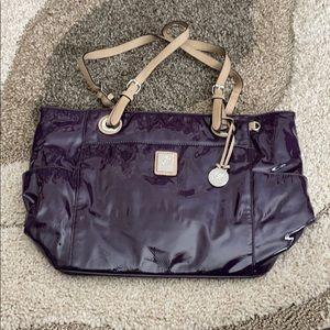Grace Adele purple patent tote